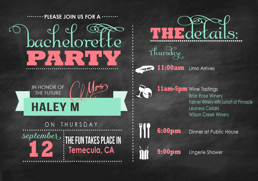 Destination Wedding A Bachelorette Party In Temecula