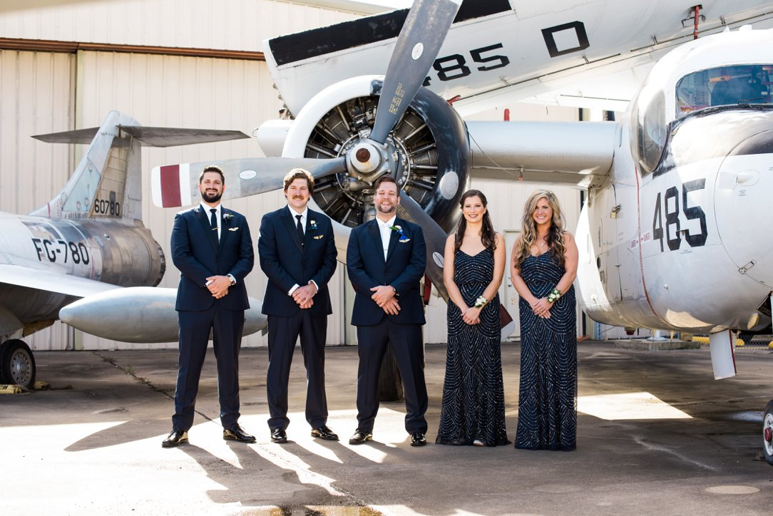 Cavanaugh Flight Museum wedding